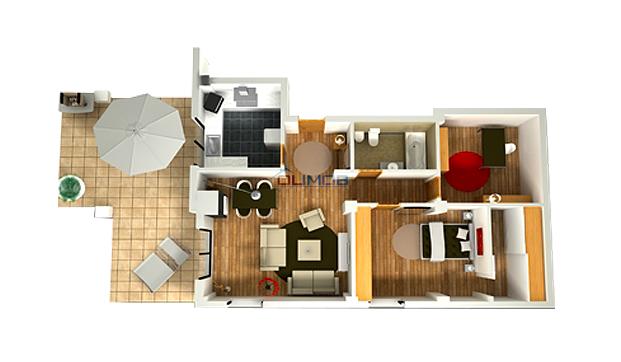 Schita Apartament Ibiza Sol