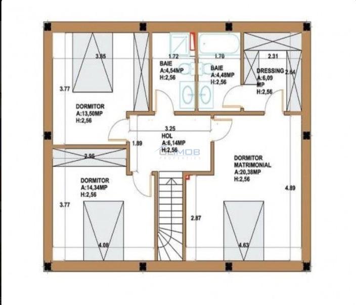plan etaj vila corbeanca
