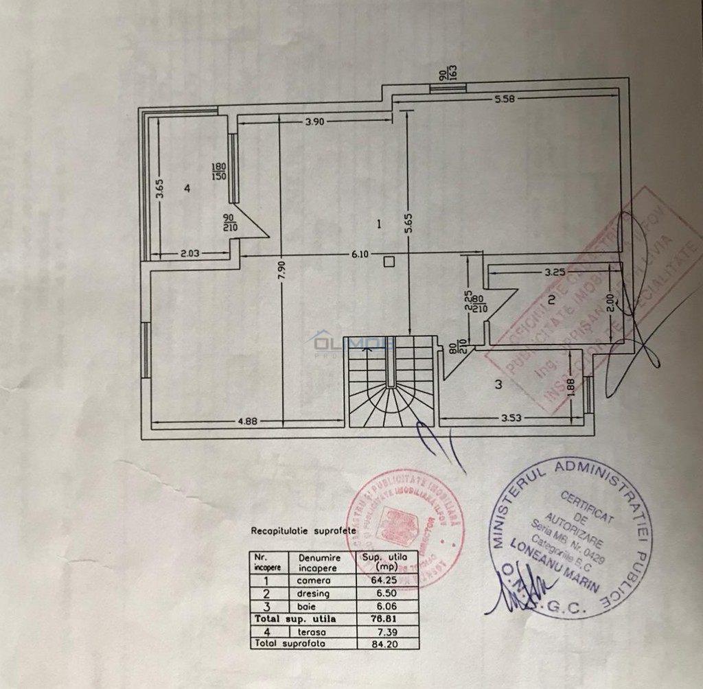 Plan mansarda vila Pipera