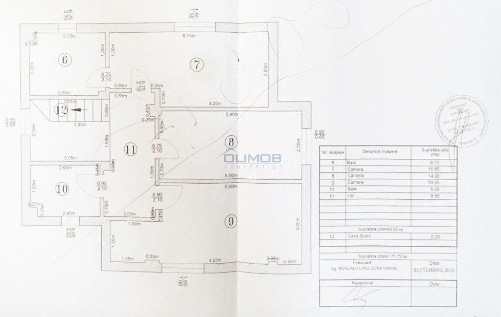 Plan etaj vila Pipera