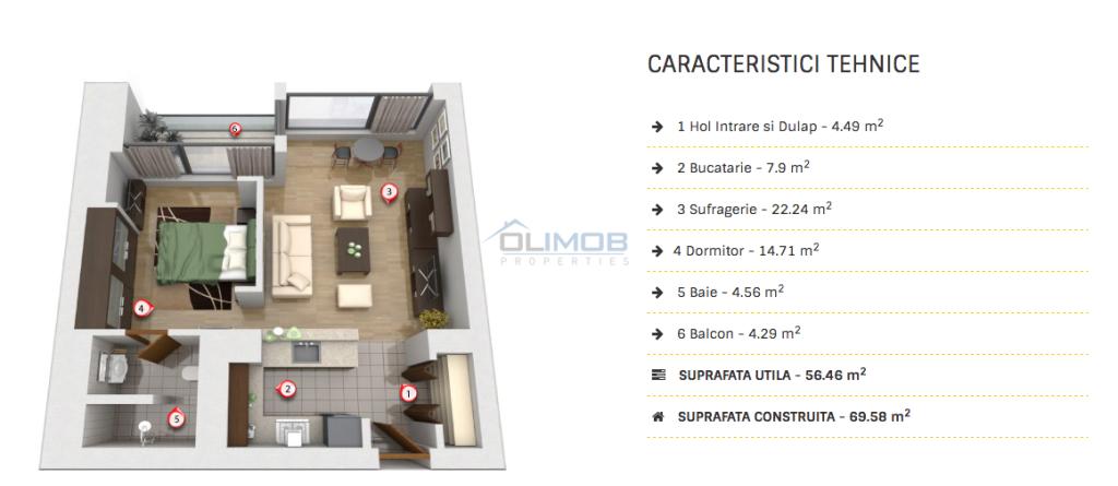 Cortina Residence apartament  inchiriere