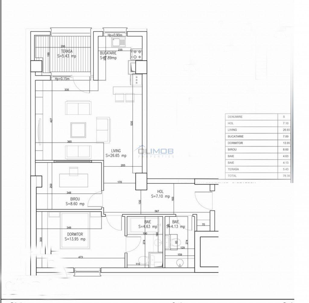 Schita apartament Aviatie