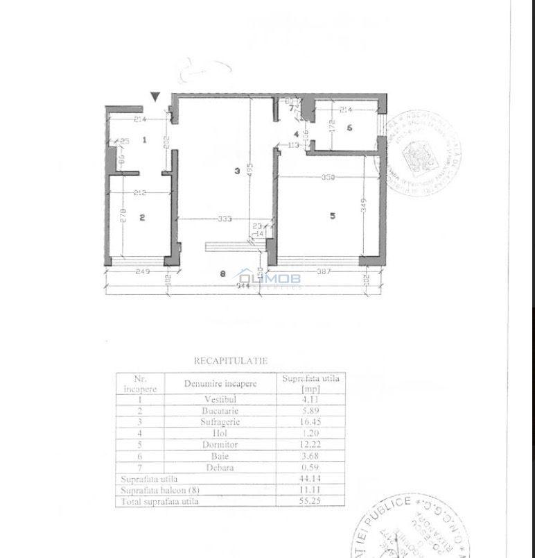 Plan apartament Stefan Cel Mare - OBOR